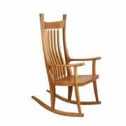 Cherry Wood Cloud Wood Rocker