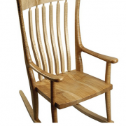 Western Maple Wood Cloud Wood Rocker