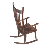 Walnut Wood Cloud Wood Rocker