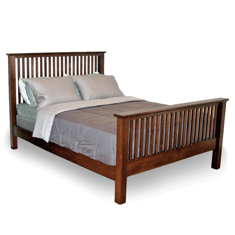 Spindle beds solid wood bed frames robinson clark for Craftsman bed