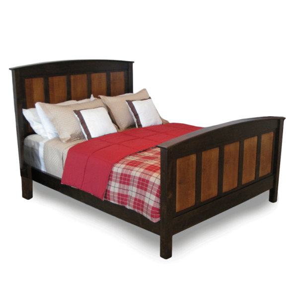 fox island panel-bed wooden bed frame