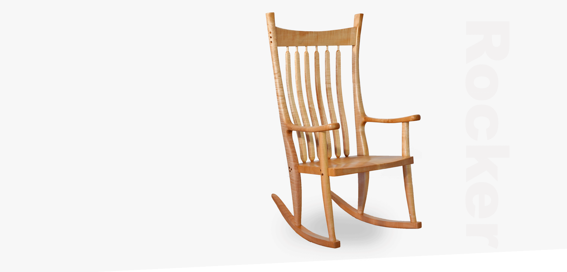 wood rocker - wooden rocking chair