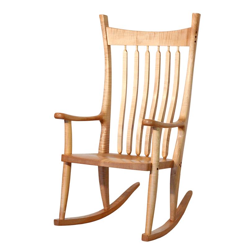 Wood Rocker Cloud Rocker Wooden Rocking Chair Robinson Clark