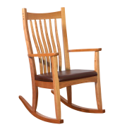 wood rocker - cherry wooden rocking chair