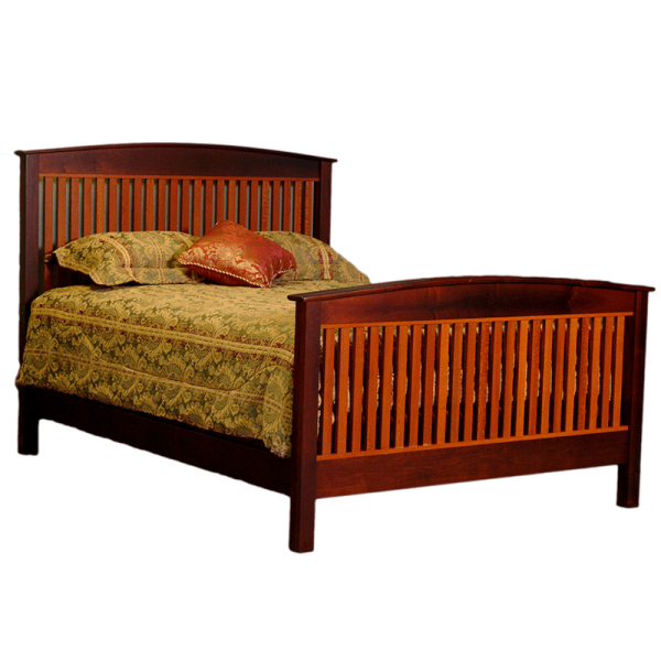 crown bed wooden bed frame