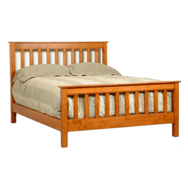 Mission Style Bed - Solid Wood Bed Frame