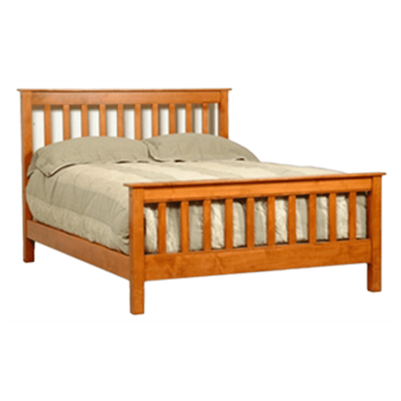 Mission style bed solid wood bed frames robinson clark for Mission style bed frame plans
