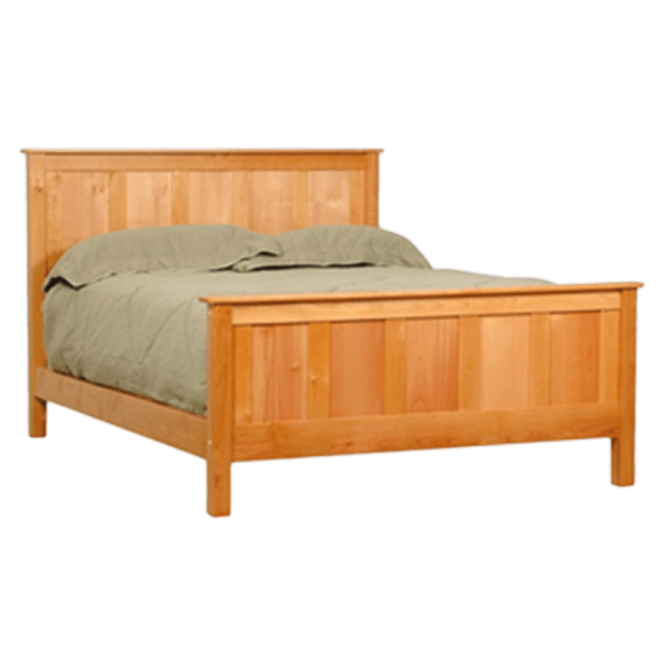 Wood Panel Bed - Solid Wood Bed Frame